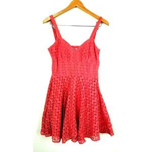 BB Dakota Eyelet Sundress Lace Dress 8 M pink